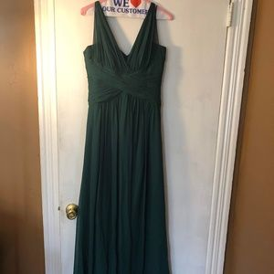 After Six Hunter Green Bridesmaid dress #6711